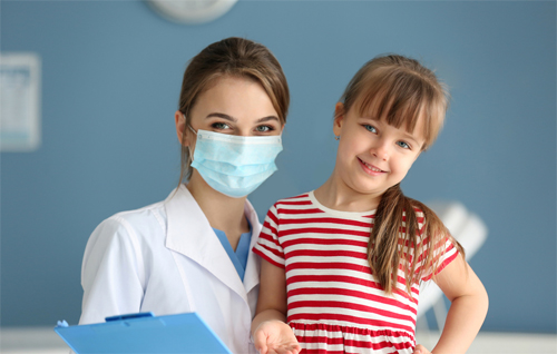Doc with mask and young girl_w